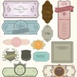 Vintage labels - set — Stock Vector