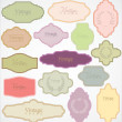 Royalty-Free Stock Vectorielle: Set of ornate vector frames and labels