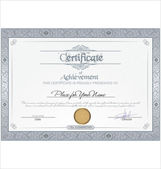 Vector illustration of detailed certificate — Stock Vector