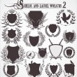 Royalty-Free Stock Vector Image: Shields And Laurel Wreaths - set 2