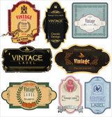Vintage labels-collectie — Stockvector