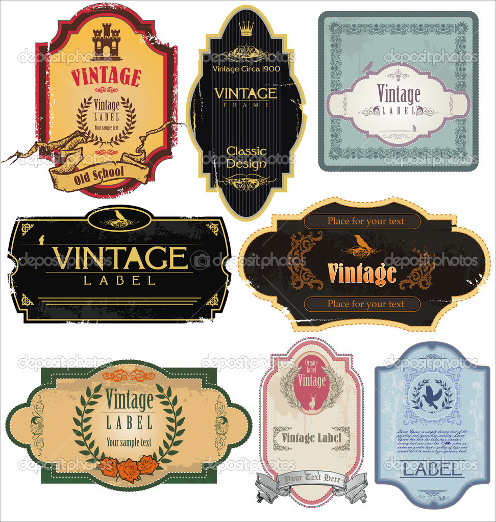 Vintage Labels Collection — Stock Vector #8627143