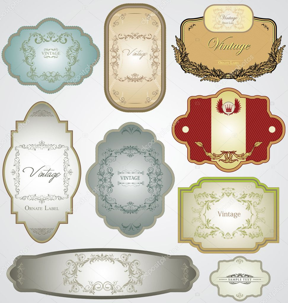 Ornate vintage decorative vector frames — Stock Vector #8664739