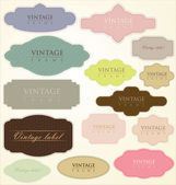 Vintage labels - vector set — Stock Vector