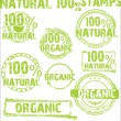 Natural - grunge stamps — Stock Vector #8795357