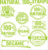 Natural - grunge stamps — Stock Vector