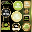 Royalty-Free Stock Imagem Vetorial: Set of labels for organic and natural