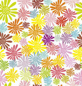 Hippie flowers seamless pattern — Stock Vector