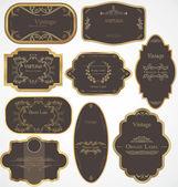 Vector set of vintage frames — Stock Vector