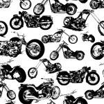 Seamless retro motorbike background — Stock Vector #8899063