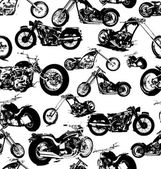 Seamless retro motorbike background — Stock Vector