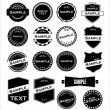 Labels With Retro Design Vector — Stock Vector