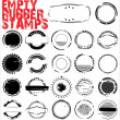 Empty Grunge Rubber Stamps - vector illustration — Stok Vektör