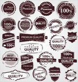 Grunge Vintage Quality Labels — Stock Vector