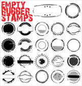 Empty Grunge Rubber Stamps - vector illustration — Stock Vector