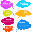 Royalty-Free Stock Imagem Vetorial: Paper speech bubble