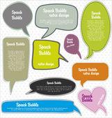 Speech bubbles retro design — Stock Vector