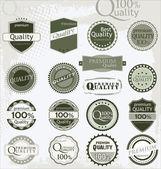 Set of vintage retro premium quality labels — Stock Vector