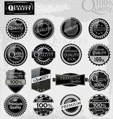 Set of elegant premium quality labels — Stock Vector