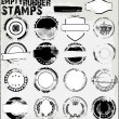 Stock Vector: Empty Grunge rubber stamps set