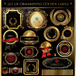 Set Of Ornamental Golden Labels - Stock Vector