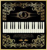 ベクトル ピアノ キーボード — ストックベクタ
