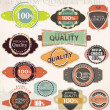 Retro label style collection set vector - Stock Vector