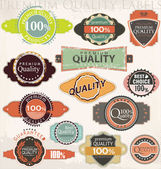 Retro label style collection set vector — Stock Vector