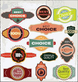 Retro Quality labels — Stock Vector