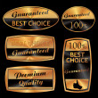 Royalty-Free Stock Vector Image: Best choice golden labels
