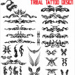 Stock Vector: Tribal Tattoo Design - Set