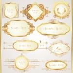 Decorative golden ornate elements — Stock Vector
