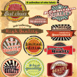 Retro label banner collection - Stock Vector