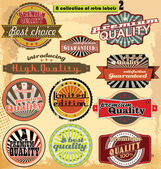 Retro label banner collection — Stock Vector