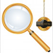 Magnifying glass — Vector de stock