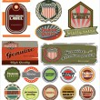 Retro label style collection set — Stock Vector
