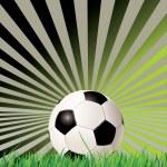 Soccer ball (football) on retro background — Stock Vector #9774787