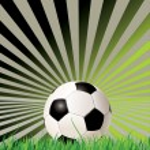 Soccer ball (football) on retro background — Stock Vector