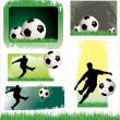 Stock Vector: Soccer Banner set