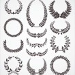Stock Vector: Laurel wreath set