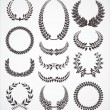 Laurel wreath set — Stock Vector #9874200