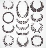 Laurel wreath set — Stock Vector