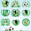Royalty-Free Stock Vector Image: Soccer shield and laurel wreath set