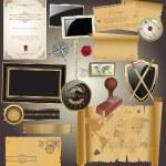 colección de cosas Vintage — Vector de stock