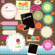 Scrapbook Design Elements - Stock vektor