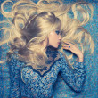 Blonde on Blue — Stock Photo #9345387
