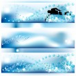 Set of 3 swimming banners — Stock Vector