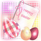 Burberry Easter card with tridimensional eggs — Stock Vector