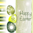 Green and yellow Easter card - Stock Vector