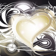 Royalty-Free Stock Vector Image: Golden heart with tribal designs